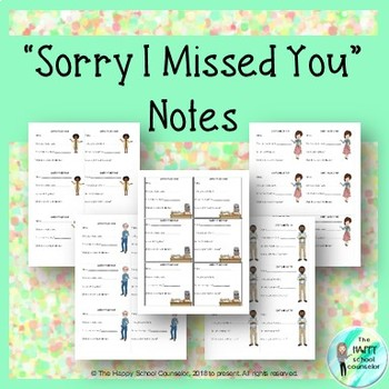 School Counseling Office Mini Bundle: Sorry I Missed You Note + Office Referral