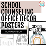 School Counseling Office Posters | Boho Rainbow