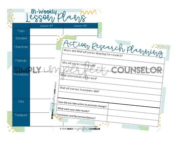 School Counseling Planner w/ Daily Time Task Analysis