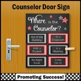 Where is the Counselor Sign, School Counseling Decor, Red & Black