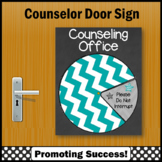 School Counseling Poster, Where is the Counselor Sign NOT EDITABLE