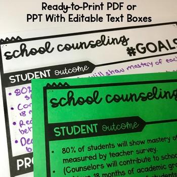 School Counseling Program Goals FREEBIE Printable