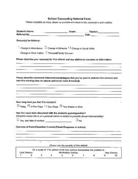 School Counseling Form Bundle (4)