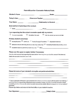 School Counseling Form Bundle (4)