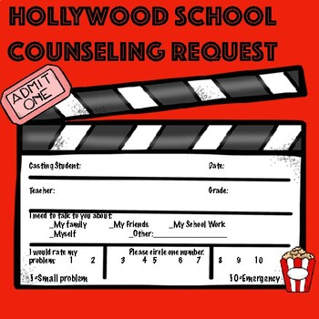 School Counseling Request-Hollywood Theme