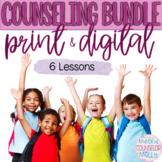 School Counseling, SEL 6 Lesson Bundle, Digital & Printable