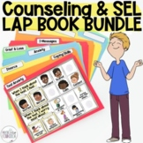 School Counseling & SEL 6 Lap Book BUNDLE! Anxiety, Divorce, Grief, and more!