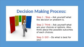 School Counseling STEM Lesson, Decision and Problem Solving