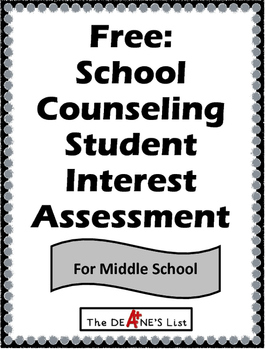 School Counseling Student Interest Assessment