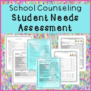 School Counseling Student Needs Assessment By The Happy