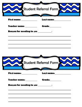 School Counseling Student Referral Form - EDITABLE!
