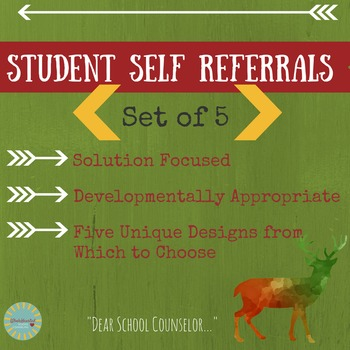 School Counseling Student Self Referral Package