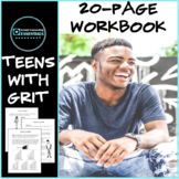 """Group Counseling """"Teens with Grit"""" Resiliency Workbook for Middle & High School"""