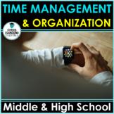 """""""Time Management/Organization""""- Middle/High School- Google Slides option"""