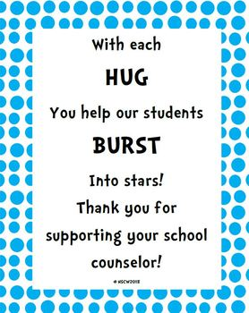 School Counseling Week Signs-Dr. Seuss Themed