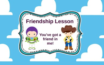 School Counseling lesson How to make and keep friends with Toy Story theme