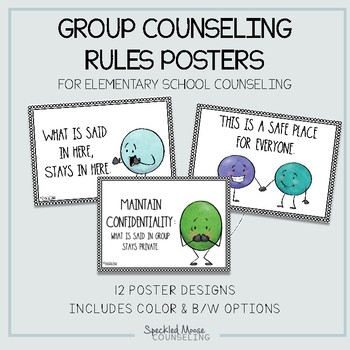 School Counseling small group rules posters #counselorsback4school