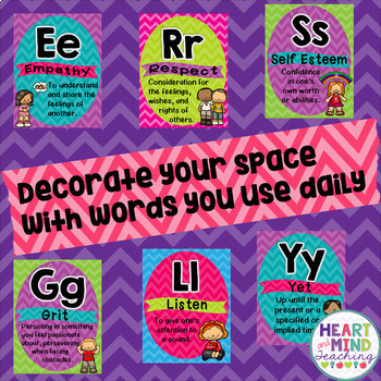 School Counseling themed Alphabet Line posters, classroom office decor