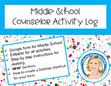 School Counselor Activity Log Middle School