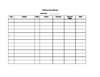 School Counselor Activity Logs