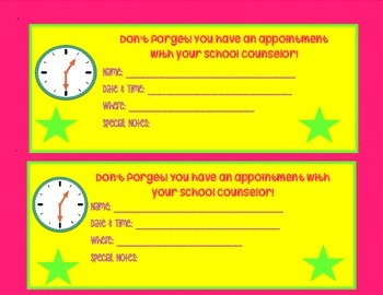 School Counselor Appointment Reminders