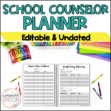 Editable School Counselor Planner and Binder - Undated