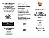 School Counselor Brochure