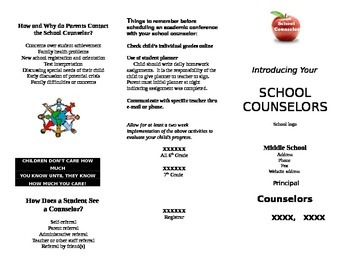School Counselor Brochure