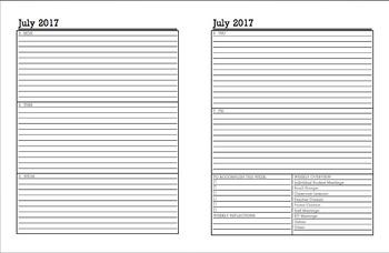 School Counselor Calendar and Planner- 2017-2018