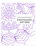 School Counselor Calendar and Planner- 2017-2018