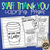 Thank You Coloring Pages Teacher Appreciation Staff Morale