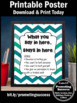Teal Shades Chevron School Counselor Confidentiality Sign