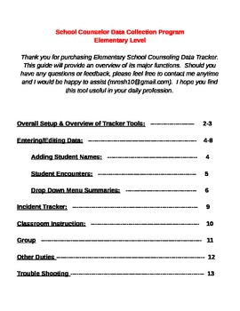 School Counselor Data Tracker How to Guide