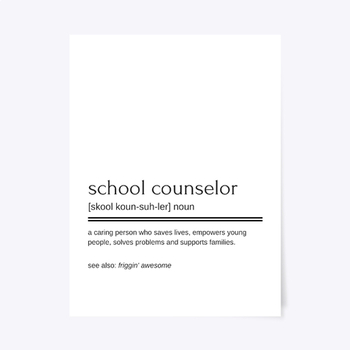 Friggin' Awesome School Counselor Printable Poster #JuneCounselorDeal