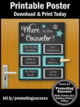 School Counselor Gift, Counseling Office Door Sign, Back to School Decor