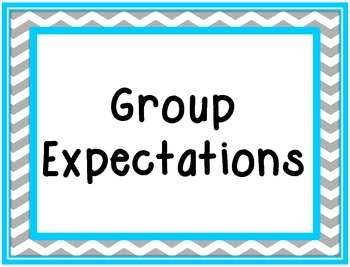 School Counselor Group Expectations SIgns