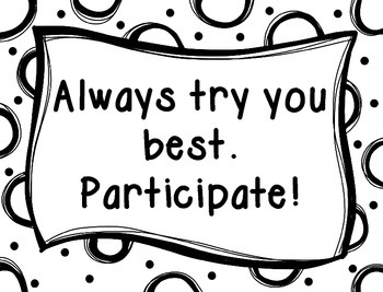 School Counselor Group Expectations SIgns [BW Dots]