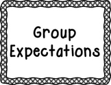 School Counselor Group Expectations SIgns [BW Frame]