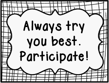School Counselor Group Expectations SIgns [Blac k &White]