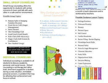 School Counselor Information Brochure