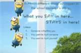 School Counselor Informed Consent Poster (Minions Themed)