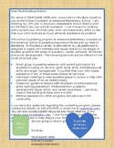 Editable School Counselor Intro Letter for Parents and Staff.