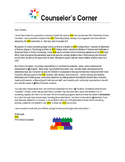 School Counselor Introduction Letter to Families