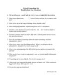 School Counselor Job Interview Questions