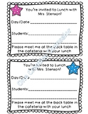 School Counselor Lunch Invitation Note (Editable!)