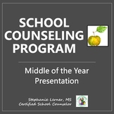 School Counseling Program Presentation: Middle of Year EDITABLE!