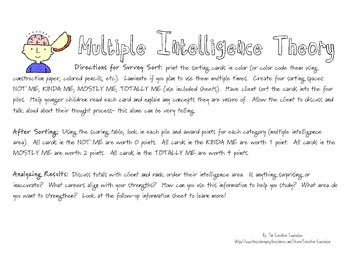 School Counselor- Multiple Intelligence Survey and MORE!