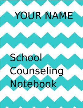 School Counselor Notebook Cover