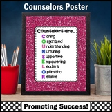 Definition of a School Counselor Sign, End of the Year Gift 8x10 or 16x20