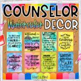 School Counselor Classroom Office Decor Set Watercolor theme